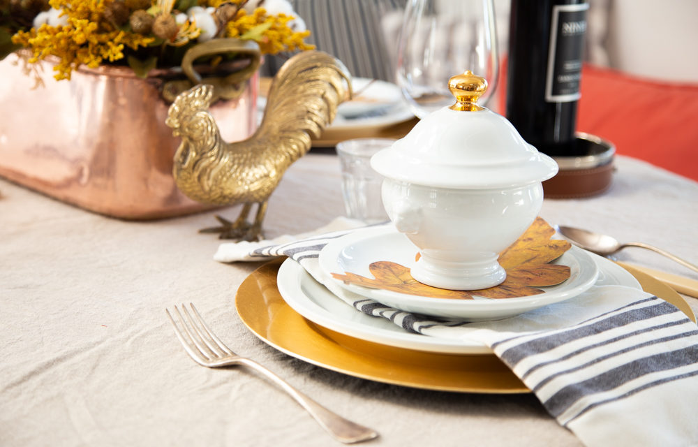 Copper & Gold Thanksgiving Table Setting