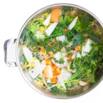 Chicken Stock With Vegetables in stockpot