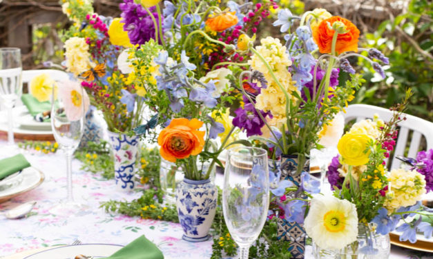"Florals For Spring. Create A ""Groundbreaking"" Table Setting"