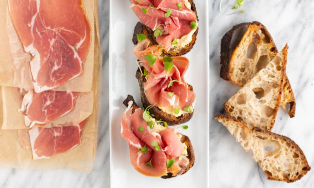 Honey Mustard Butter Prosciutto Tartine
